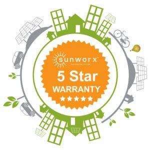 sunworx 5 star warranty