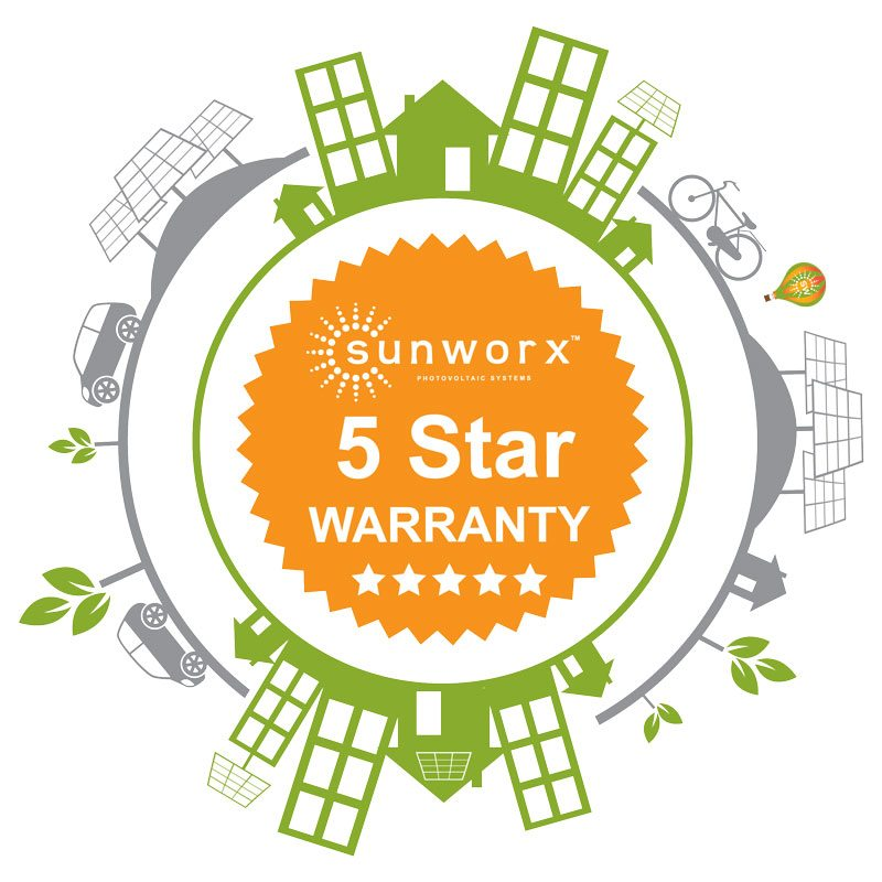 sunworx 5 star warranty