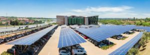 solar panels at parking lot